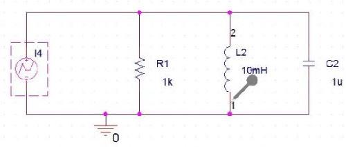 1724490 - گزارش کارمحاسبه پاسخ پله واحد و ضربه مدار RLC موازی در نرم افزار PSpice 9.2